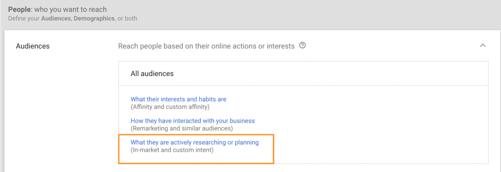 Custom Intent Audience How To