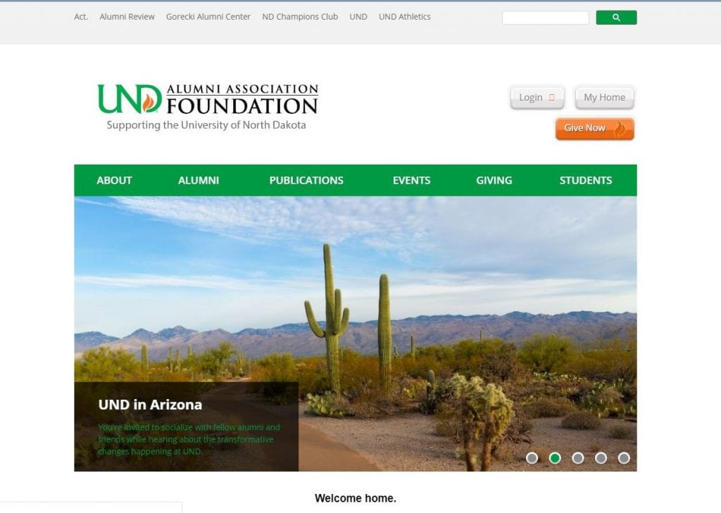 UND Alumni Association and Foundation  showcasing events for Alumni in Arizona