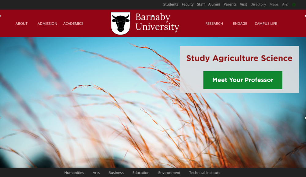 Southeast: Students from this area come to Barnaby to study Agriculture Science.